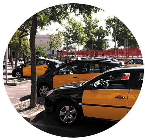 Taxis-en-parada-Castelldefels